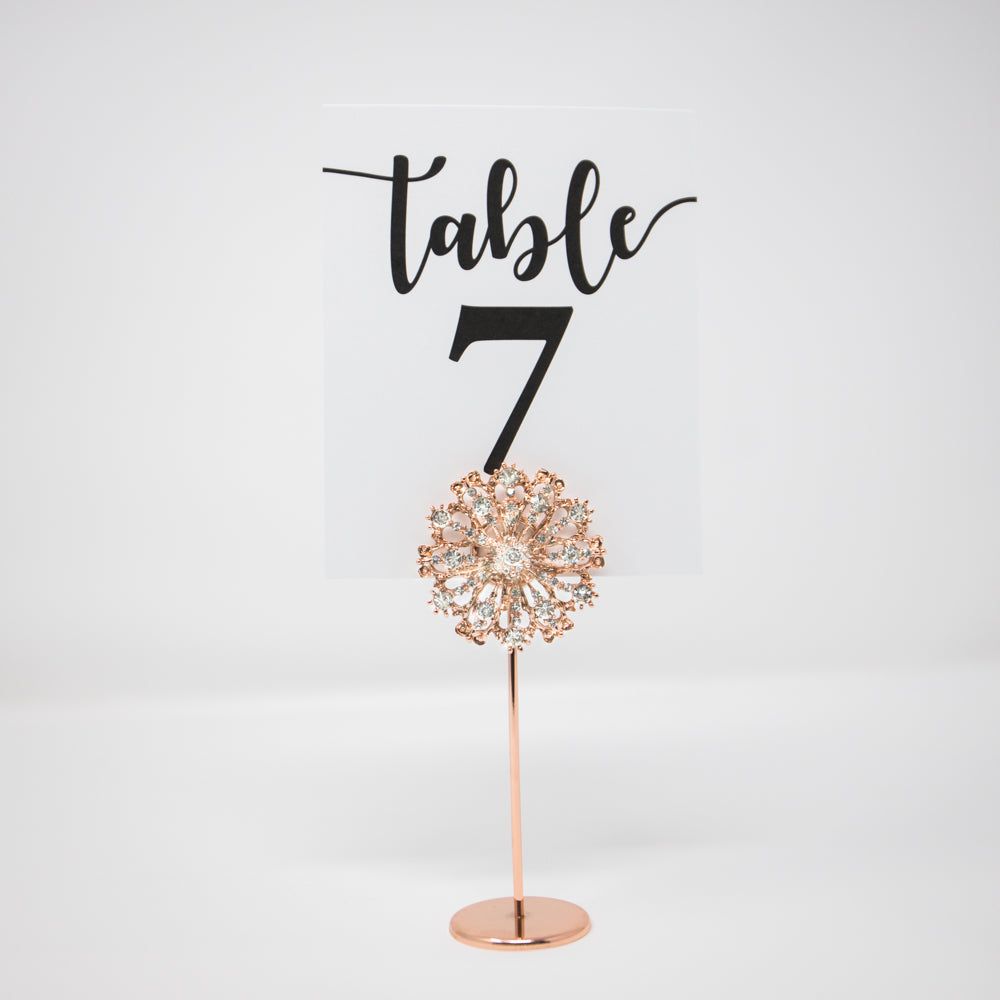 Rose Gold Starburst Table Number Stands 407-R-S