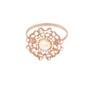 Rose Gold Flower Napkin Ring, Totally Dazzled 404-R-N