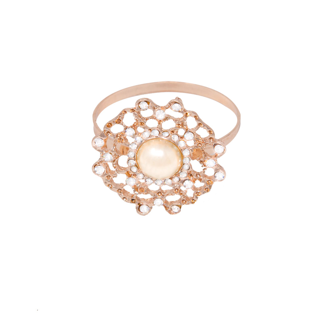Rose Gold Flower Napkin Ring