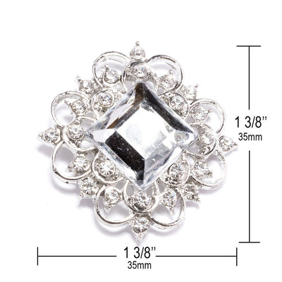 Crystal Ribbon Buckles Measurements