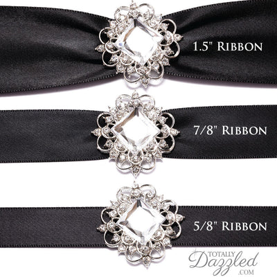 Crystal Ribbon Buckles with Ribbon