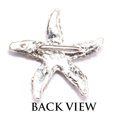Rhinestone Starfish Buckle Back View