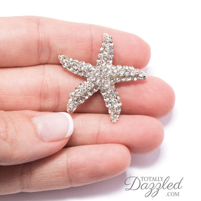Rhinestone Starfish Buckle in Hand