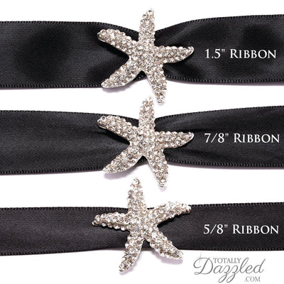 Rhinestone Starfish Buckle with Ribbon