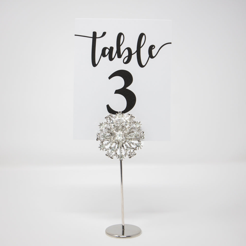 Silver Wedding Table Number Holders