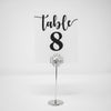 Silver Square Crystal Table Number Holders