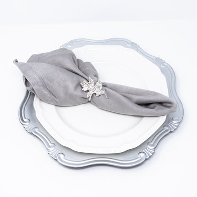 Silver Leaf Fall Napkin Rings