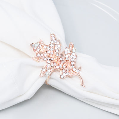 Fall Wedding Napkin Ring Rose Gold