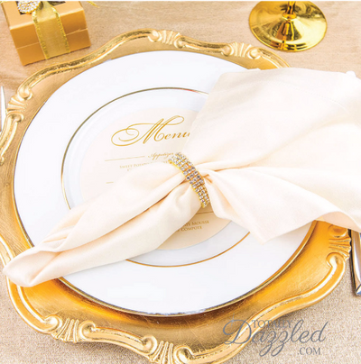 Gold Rhinestone Napkin Ring Wholesale