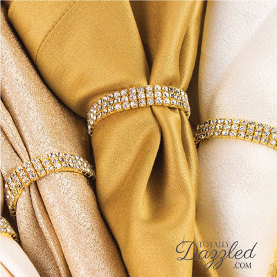 Gold Rhinestone Wedding Napkin Ring