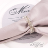 Silver Wedding Napkin Rings
