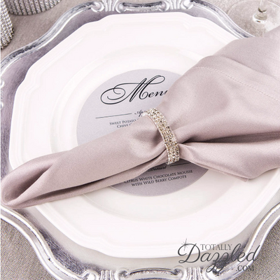 Silver Rhinestone Napkin Ring Wholesale