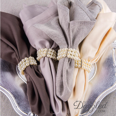 Pearl Wedding Napkin Rings