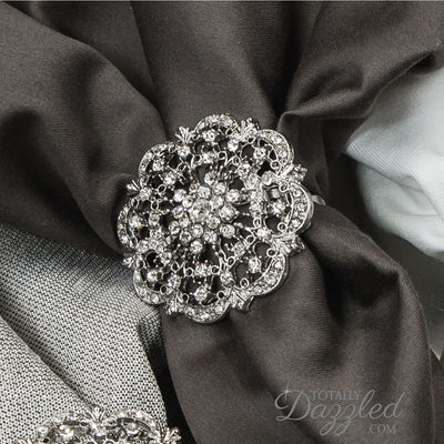 Diamante Napkin Rings Weddings Bulk