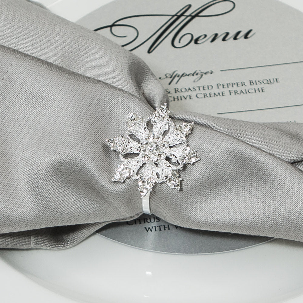 Diamante Snowflake Napkin Rings