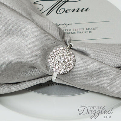 Rhinestone Napkin Rings Wholesale