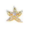 Wholesale Rhinestone Starfish Brooch