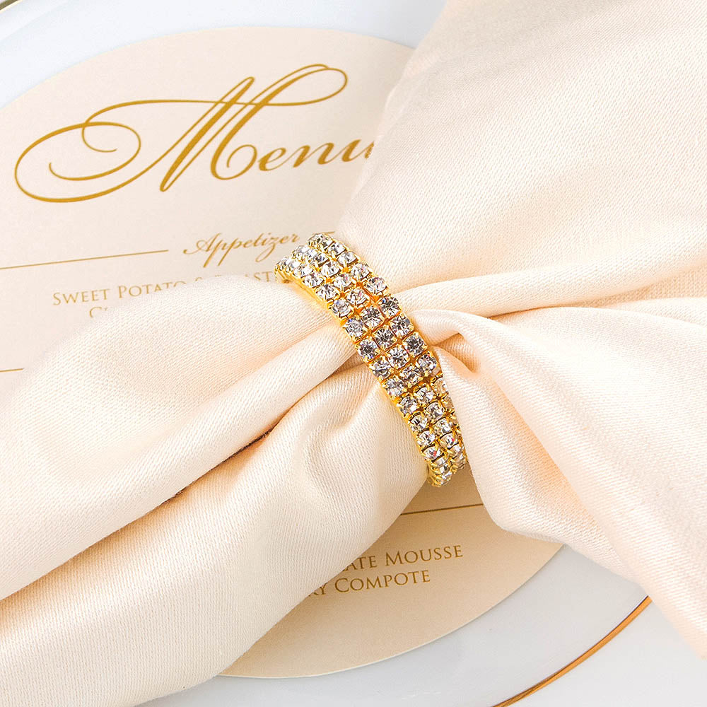 Gold Rhinestone Napkin Ring