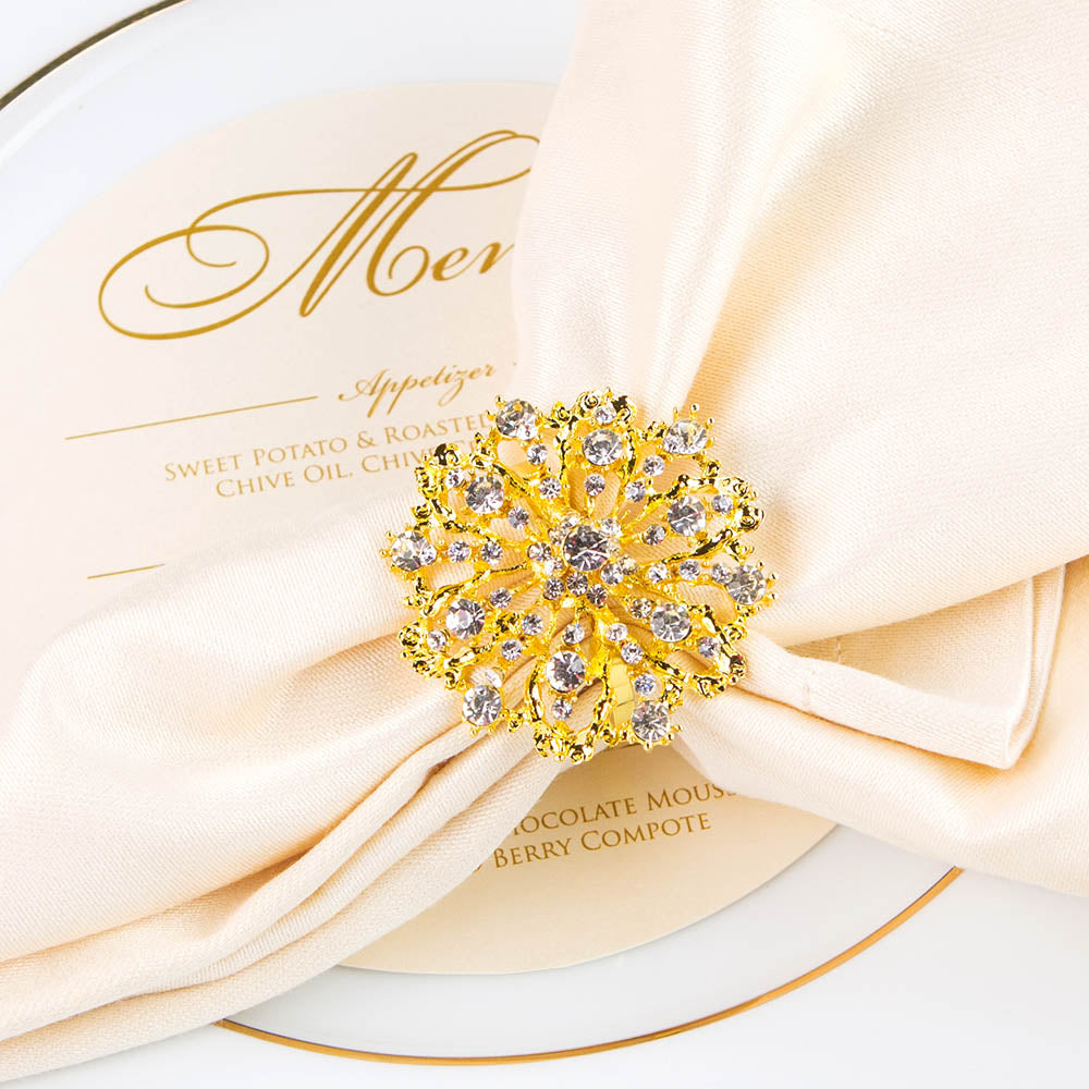 Wedding Rhinestone Napkin Rings