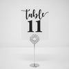 Table Number Stand Silver Rhinestone and Pearl 404-S-S