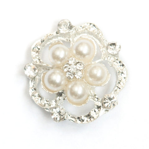DIAMANTE FLOWER BUTTONS 705-S