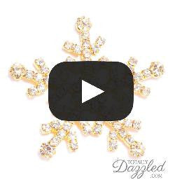 Large Diamante Snowflake Showcase