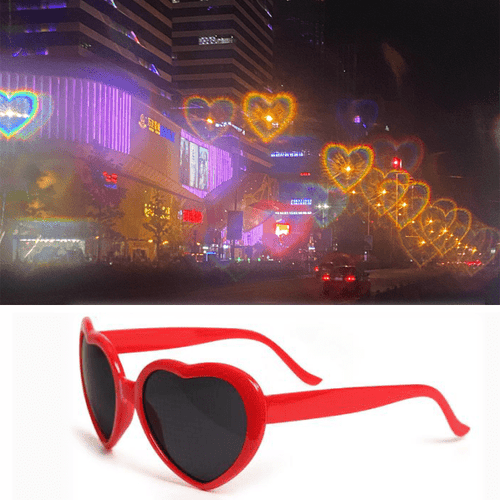 Special Effects Heart Glasses