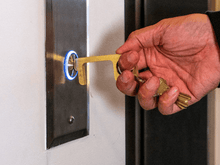 Load image into Gallery viewer, 3 PIECE - Hygiene Hand: Brass Door Opener & Stylus
