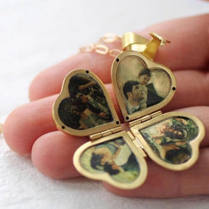 Vintage Clover Locket