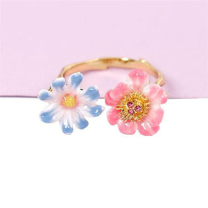 Two-Tone Flower Ring