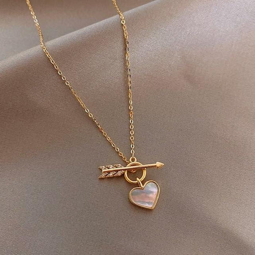 Cupid Arrow Shell Necklace