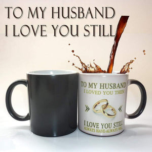 To My Husband - I Love You Color Changing Mug