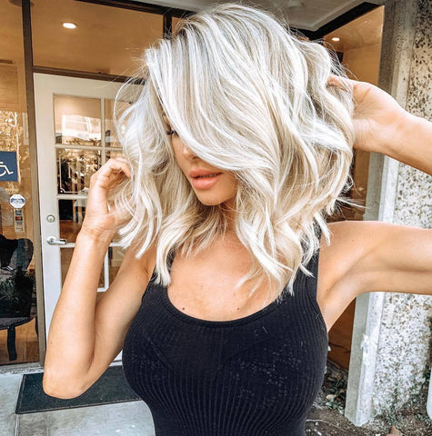 2019 Hot Sale Fashion Short Wavy | White Wig | Lamon Beauty