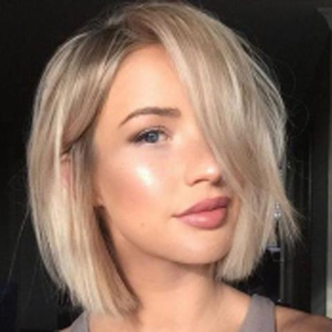 Lace Human Hair | Gorgeous Short Straight Blonde Bob Wig | Lamon Beauty