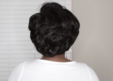 360 Lace GLAMOROUS Tapered Bob Short Wig | Black Wig | Lamon Beauty