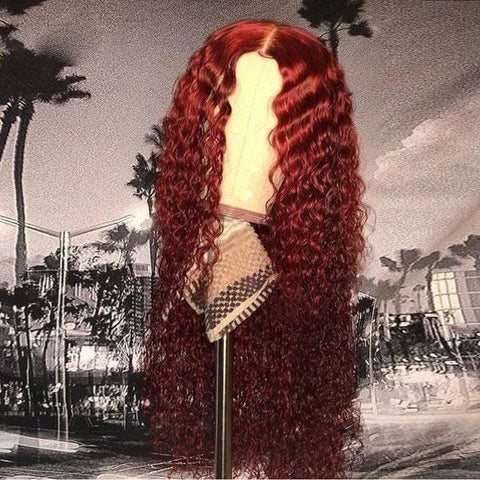 Preferred Red Long Curly Hair Wig | Lamon Beauty