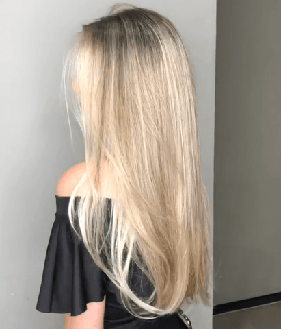 Human Lace Wig | Long Straight Blonde Gradient Wig | Lamon Beauty
