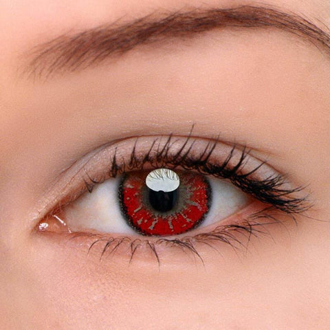 Mystery Red Colored Contact Lenses | Lamon Beauty