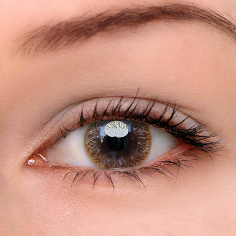 Calendula Brown Colored Contact Lenses | Lamon Beauty
