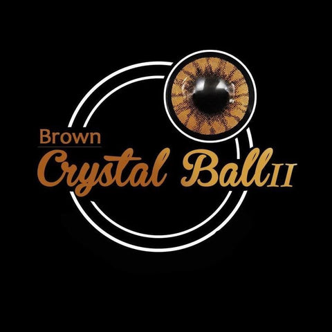Crystal Ball Brown II Colored Contact Lenses | Lamon Beauty