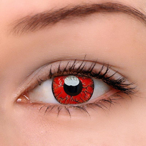 Dangerous Ruby Colored Contact Lenses | Lamon Beauty
