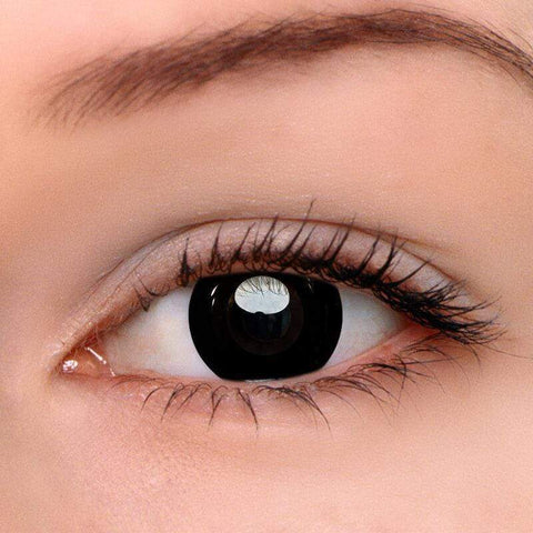 Darknight Black Colored Contact Lenses | Lamon Beauty