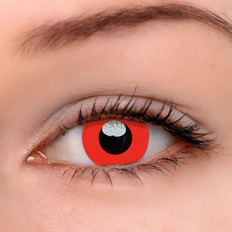 Devil Red Colored Contact Lenses | Lamon Beauty