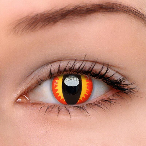 Fire Dragon Red Colored Contact Lenses | Lamon Beauty