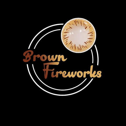 Fireworks Brown Colored Contact Lenses | Lamon Beauty