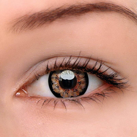 Flower Brown Colored Contact Lenses | Lamon Beauty