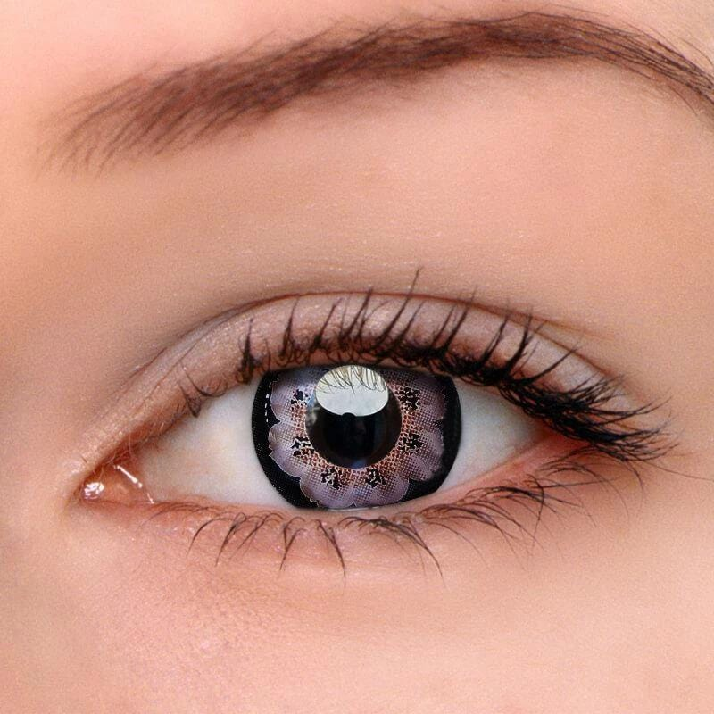 Flower Grey Colored Contact Lenses | Lamon Beauty