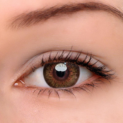 Glow Brown Colored Contact Lenses | Lamon Beauty