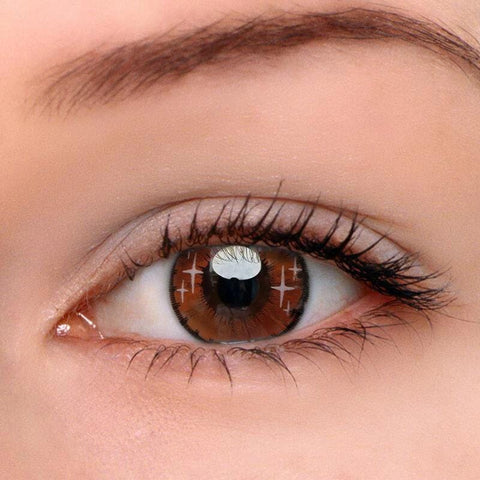 Gradient Star Brown Colored Contact Lenses | Lamon Beauty