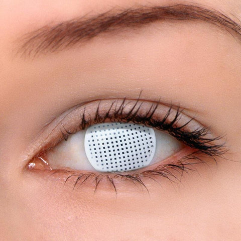 Gridding White Colored Contact Lenses | Lamon Beauty